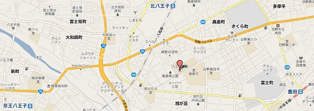 八王子東高校近隣地図