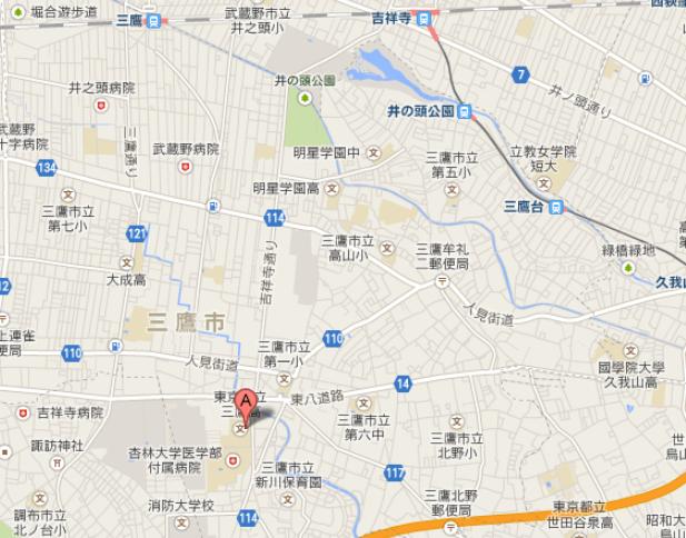 三鷹中地図