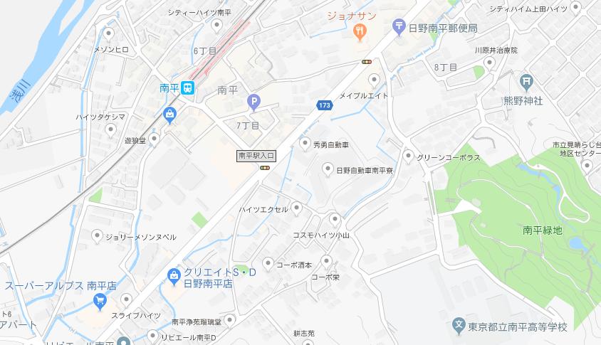 南平高校地図